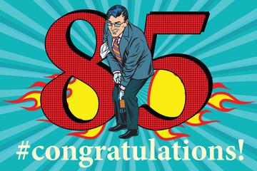 Congratulations 85 anniversary event celebration