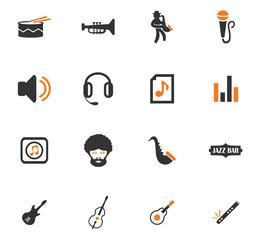 Jazz and Blues icons set