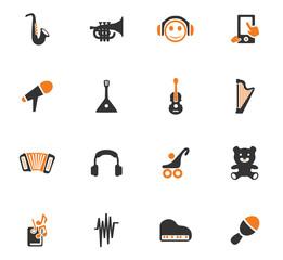 Music icons set