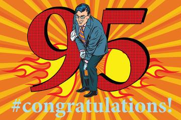 Congratulations 95 anniversary event celebration