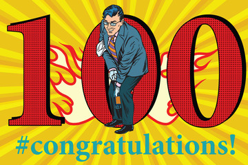 Congratulations 100 anniversary event celebration