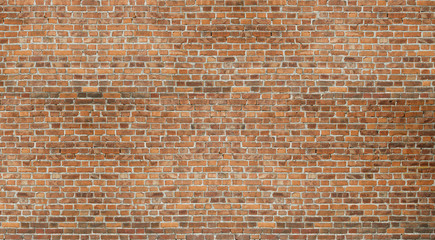 Old red brick wall vintage texture. Grunge stonewall background for text or image.