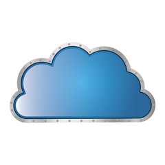 metallic cloud tridimensional in cumulus shape vector illustration