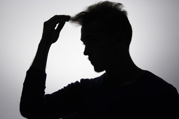 Male silhouette portrait.