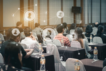 Business concept : asia people listen in business seminar presen