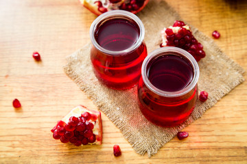Pomegranate liqueur, Pomegranate juice.