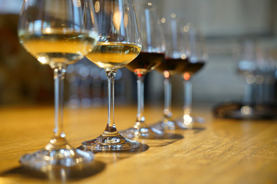 Closeup of South Africa wines