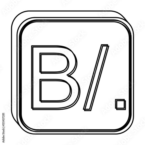 Monochrome Square Contour With Currency Symbol Of Balboa Panama
