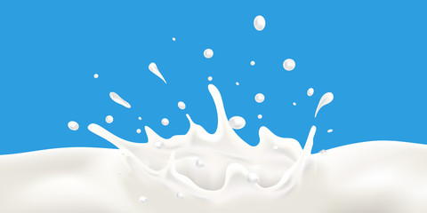 Milk wave and splash vector illustration