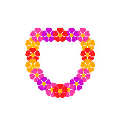 Colorful lei vector icon
