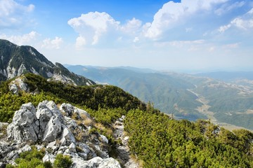 Mountain hiking in Europe - Piatra Craiului mountains