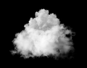 white clouds on black background