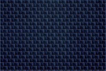 Abstract dark blue background of lines and squares