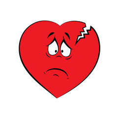 Broken sore heart