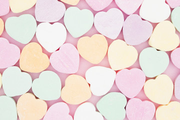 Old fashion candy heart background
