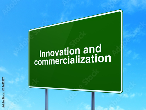 Science concept innovation and commercialization on road for Commercialization roadmap