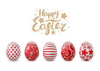 Red Easter eggs for Your design