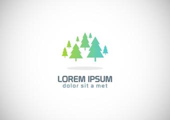 green pine tree vector logo