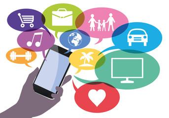 Smartphone - connexion - technologie -  e-commerce