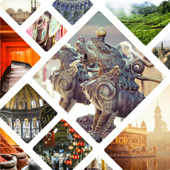 Collage of Most Beautiful and Breathtaking Places in Asia - my p