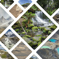 Collage of photos from Australi and New Zealand - my photos.