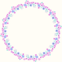 Floral round cute frames of