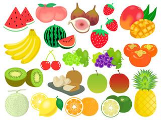 フルーツのイラスト素材セット