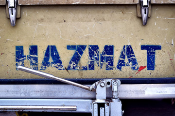 "Alphabet "" HAZMAT "" Letters, boxes on emergency supplies. Fire, chemical spill"