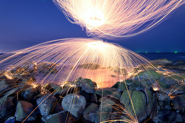 Amazing Fire steel wool photography.