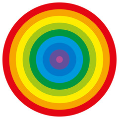 Rainbow colored circle. Isolated vector illustration on white background.