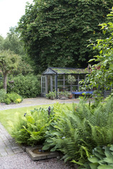 Greenhouse in garden
