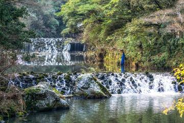 stream before cheonjiyeon waterfall