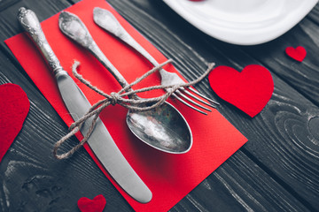 Valentine's Day.  felt heart  ,plate,