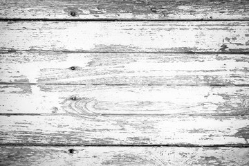 White old wood wall - texture or background.Old rustic wooden.