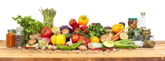 Foto op Plexiglas Groenten Organic vegetables
