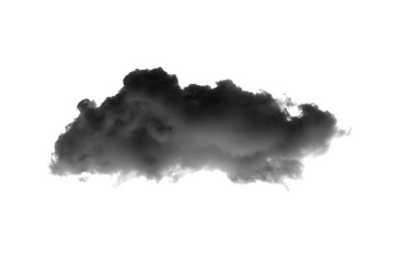 Door stickers Heaven Dark clouds on white background