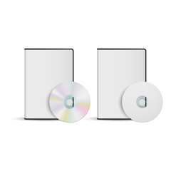 DVD disc and box template for your design, vector, isolated on white