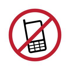 No Phone Vector Sign Illustration