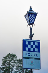 pitlochry police vintage lamp in scotland