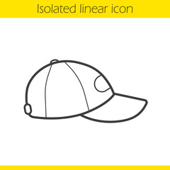 Baseball cap linear icon