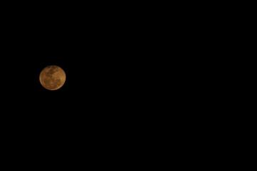 Moon in a dark sky