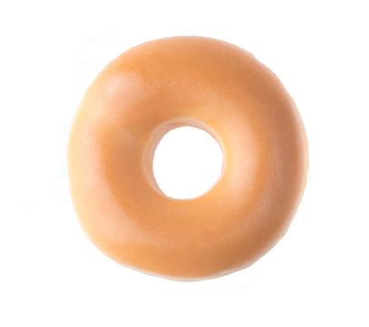 Glazed Donut Isolated on a White Background