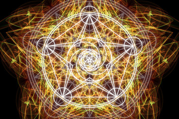 Magic occult abstract background.