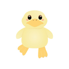 Cute plush duck. Vector illustration