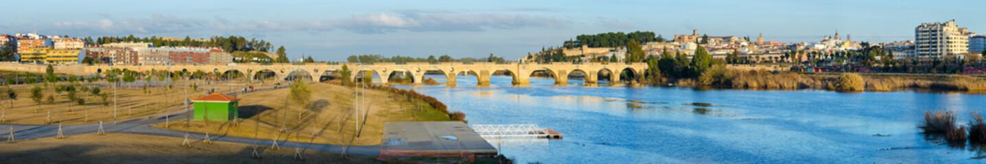 Panoramic view of Badajoz, Extremadura, Spain