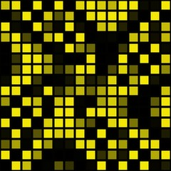 Wasp yellow and black colored pixelized cubes abstract mesh image