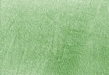Green color cotton towel texture.
