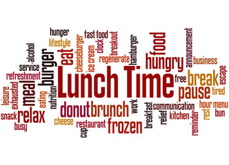 Lunch Time, word cloud concept
