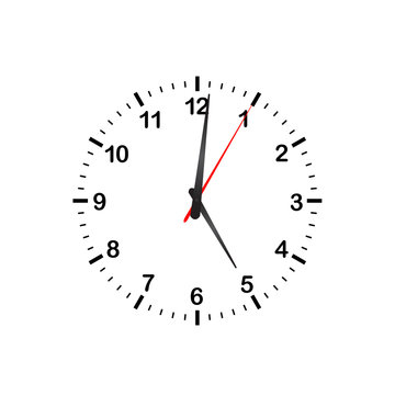 Simple Vector Kitchen Clock