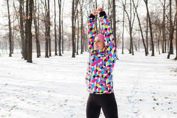 Fitness Woman Winter Activity
